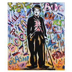 "Nastya Rovenskaya- Mixed Media ""Chaplin"""
