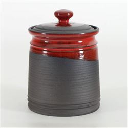 Eugenijus Tamosiunas, Hand Made Ceramic Jar with Lid, Hand Signed.
