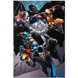 """Marvel Comics """"X-Men vs. Agents of Atlas #1"""" Numbered Limited Edition Giclee on Canvas by Carlo Pagu"""