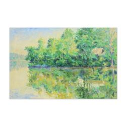 """Charles Knecht, """"Mid Day Reflections"""" Original Oil Painting on Canvas, Hand Signed with Letter of Au"""