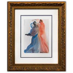 "Salvador Dali- Original Color Woodcut on B.F.K. Rives Paper ""Paradise 18"""