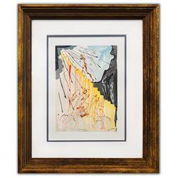 "Salvador Dali- Original Color Woodcut on B.F.K. Rives Paper ""Paradise 21"""