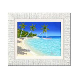 """Dan Mackin, """"Seaside Style"""" Framed Original Painting on Canvas, Hand Signed with Letter of Authentic"""