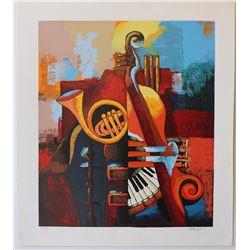 "Igor Kovalev- Original Serigraph on Paper ""Symphony IV"""