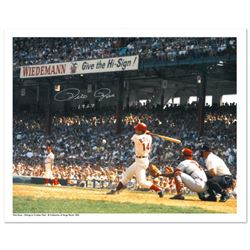"""""""Rose Hitting in Crosley Field"""" Archival Photograph Featuring Pete Rose Taken by Photographer Sarge"""