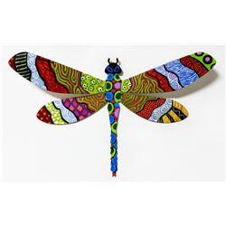 "Patricia Govezensky- Original Painting on Cutout Steel ""Dragonfly XLVII"""