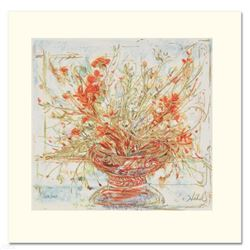 """""""Summer's End"""" Limited Edition Serigraph by Edna Hibel (1917-2014), Numbered and Hand Signed with Ce"""