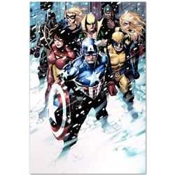 """Marvel Comics """"Free Comic Book Day 2009 Avengers #1"""" Numbered Limited Edition Giclee on Canvas by Ji"""
