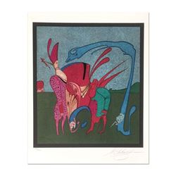 "Mihail Chemiakin, Carnival Series: ""Untitled 11"" Limited Edition Lithograph, Numbered Hand Signed wi"