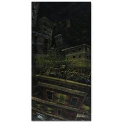 """Roof Party"" Limited Edition Giclee on Canvas (24"" x 48"") by David Garibaldi, E Numbered and Signed."