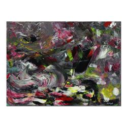 "Tom Pergola, ""The Storm"" Original Acrylic Painting on Gallery Wrapped Canvas, Hand Signed with Lette"