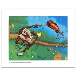 """Terrible Taz Golf"" Limited Edition Giclee from Warner Bros., Numbered with Hologram Seal and Certif"