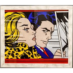"Roy Lichtenstein- Offset Lithograph ""In the Car"""