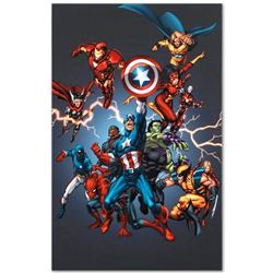 "Marvel Comics ""Official Handbook: Avengers 2005"" Numbered Limited Edition Giclee on Canvas by Tom Gr"