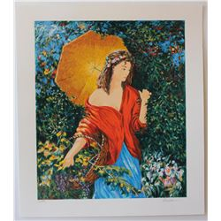 "Igor Semeko- Original Serigraph on Paper ""After the Rain"""