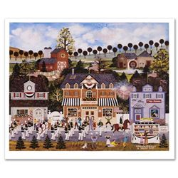 Jane Wooster Scott,  Celebration of America  Hand Signed Limited Edition Lithograph with Letter of A