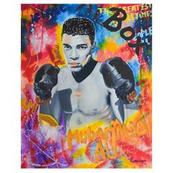 "Nastya Rovenskaya- Mixed Media ""Ali The Greatest"""