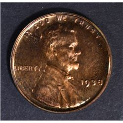 1938 LINCOLN CENT CH PROOF RB
