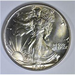 1946 WALKING LIBERTY HALF DOLLAR GEM BU