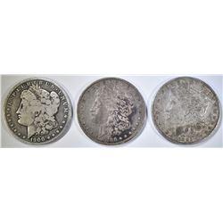1882-O, 1886-O & 1900-O CIRC MORGAN DOLLARS