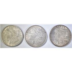 2-1921 & 1-1921-S MORGAN DOLLARS