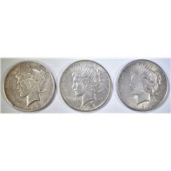 1925 & 2-26-D CIRC PEACE DOLLARS