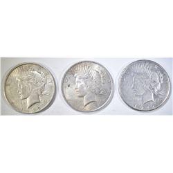1922-P-D-S CIRC PEACE DOLLARS