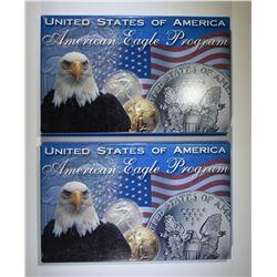 1991 & 1992 AMERICAN SILVER EAGLES