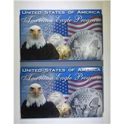 1995 & 1998 AMERICAN SILVER EAGLES