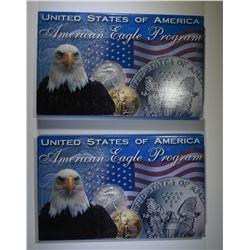 2000 & 2002 AMERICAN SILVER EAGLES