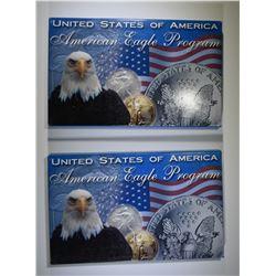 2 2006 AMERICAN SILVER EAGLES
