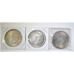 SILVER COIN LOT; 1948 MO 5 CENTAVOS, 1939 CANDA