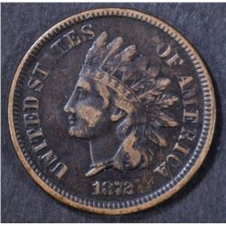 1872 INDIAN CENT  VF
