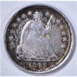 1841-O SEATED LIBERTY HALF DIME  XF/AU