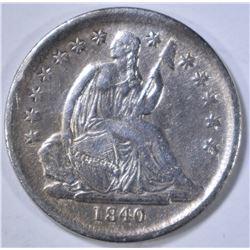 1840-O SEATED LIBERTY DIME  AU