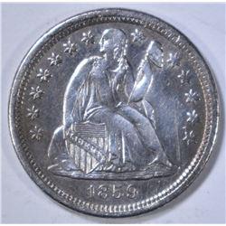 1859-O SEATED LIBERTY DIME  CH AU