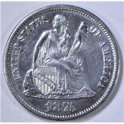 1875-CC SEATED LIBERTY DIME  BU