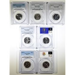 PCGS GRADED STATE QUARTERS; 2001-P NY MS-65,