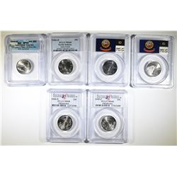 GRADED STATE QUARTERS; 2005-D OR ICG SP-69 SATIN