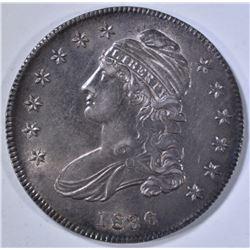 1836 BUST HALF DOLLAR AU/BU