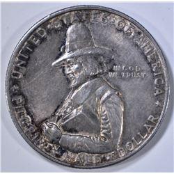 1920 PILGRIM COMMEM HALF DOLLAR  AU/BU