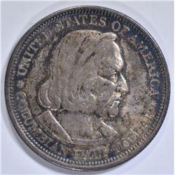 1893 COLUMBIAN HALF DOLLAR  AU