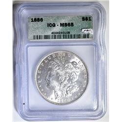 1886 MORGAN DOLLAR  ICG MS-65