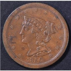 1850 HALF CENT XF