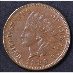 1886 INDIAN CENT AU/BU
