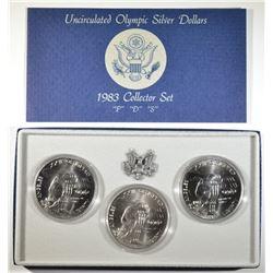1983 P-D-S UNC OLYMPIC DOLLAR SET