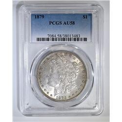 1879 MORGAN DOLLAR PCGS AU-58