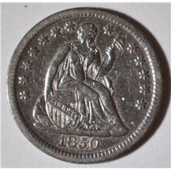 1850 SEATED HALF DIME  XF/AU