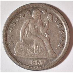 1857 SEATED DIME  XF