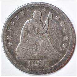 1856-O SEATED QUARTER  FINE